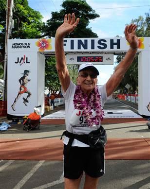 Najstarija žena koja je završila maraton - Gladys Burril, 92 godine